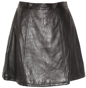 Express Leather Vintage Mini Skirt Black
