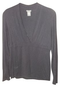Ann Taylor Top Charcoal Grey