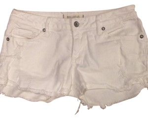 Bullhead Denim Co. Cut Off Shorts White