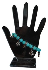 King Baby KING BABY STUDIO Sterling Silver Charm Turquoise Bead Bracelet