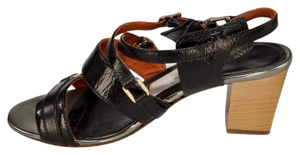 various styles great prices recognized brands Lanvin Black Multi Strap Sandals Escarpin Pumps Size US 7 Regular ...