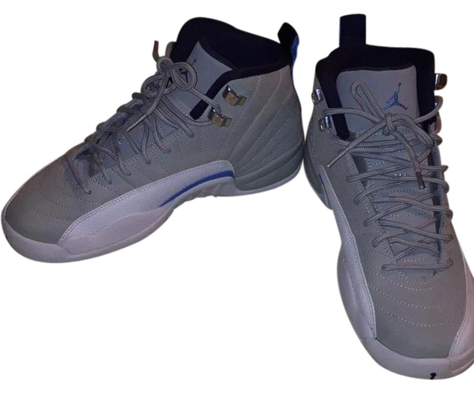 Air Jordan Grey and Blue/White White Wolf Grey/University Blue/White and Sneakers 5a8417
