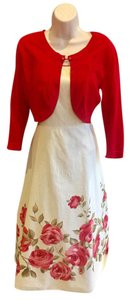 dressbarn short dress white and red on Tradesy