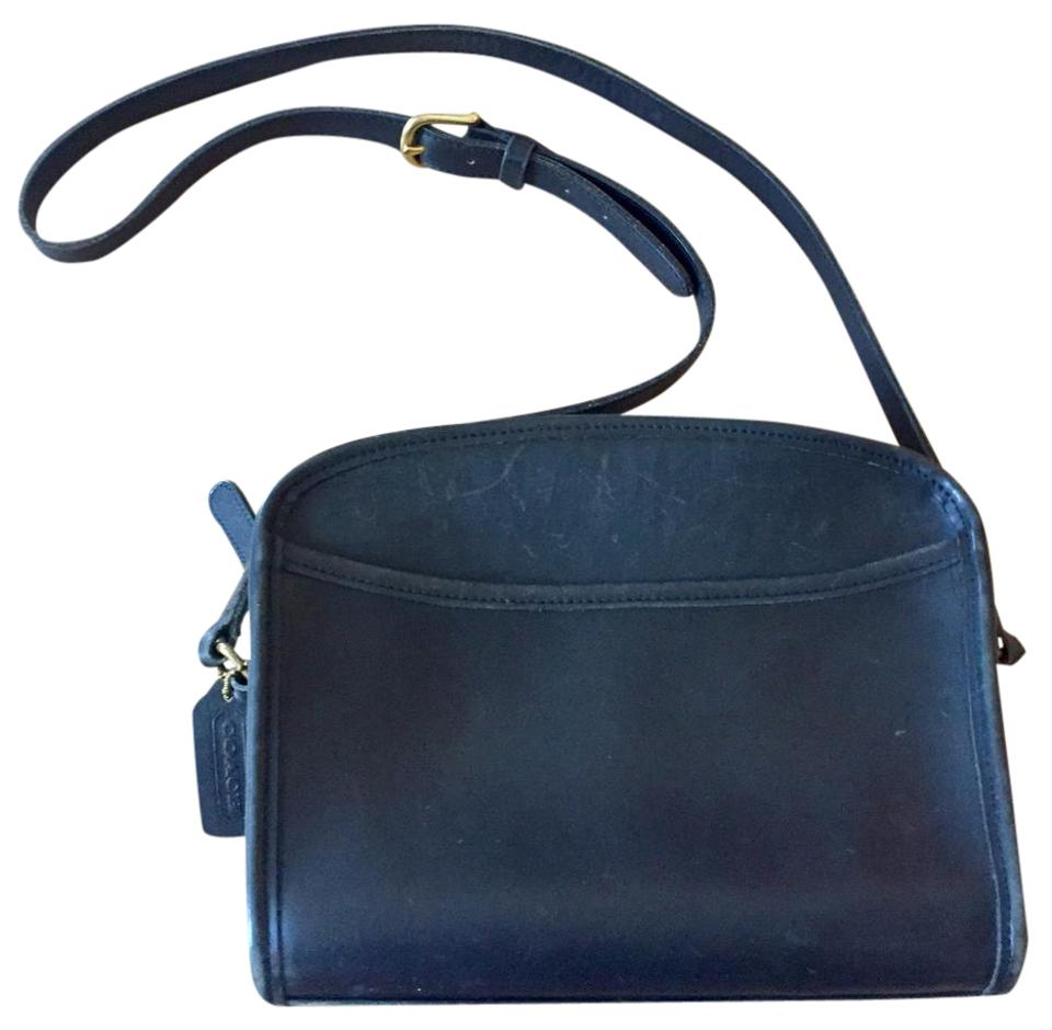 Coach Vintage In Navy Blue Leather Cross Body Bag - Tradesy 4ebc710b24e62