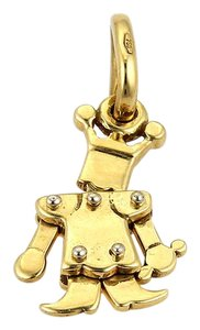 Pomellato Animated Mini King 18k Yellow Gold Charm Pendant