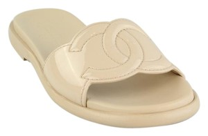 Chanel Mules Cc Flats Size 36.5 Nude Sandals
