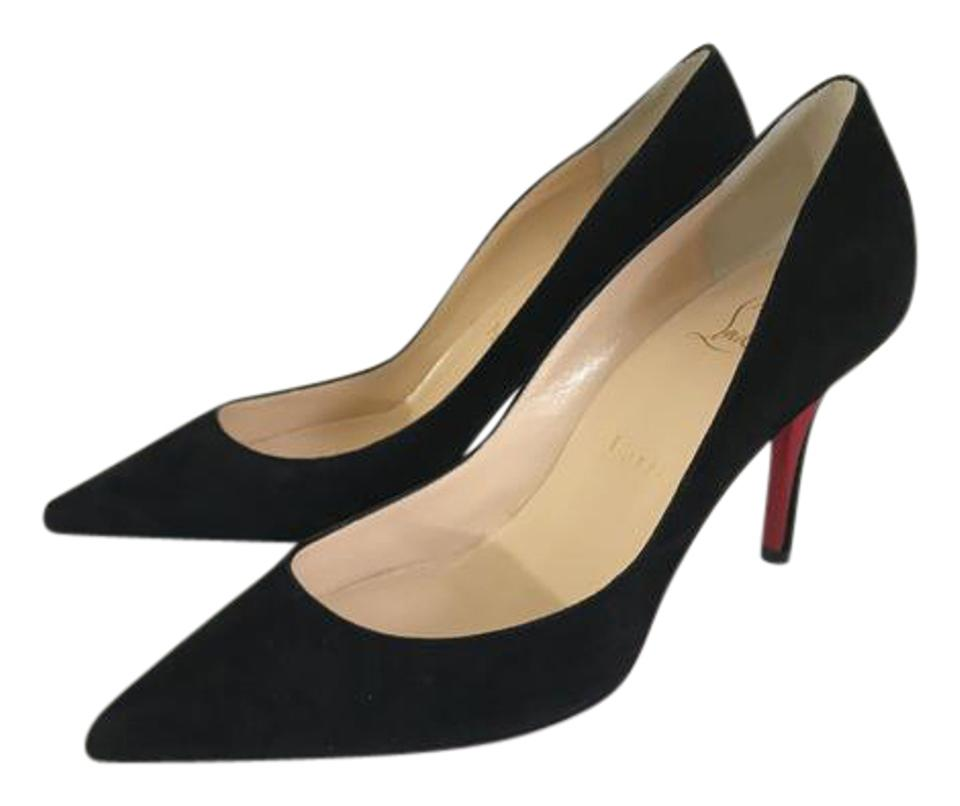 wholesale dealer 29907 4e5b6 Christian Louboutin Black Apostrophy Suede 85mm Red Sole Pumps Size EU 36  (Approx. US 6) Regular (M, B) 39% off retail
