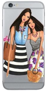 """Tory's Timeless Treasures """"BESTIES"""" Silicone iPhone Case"""