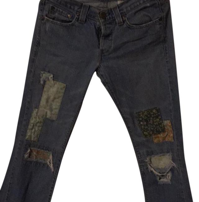 Item - Blue Distressed 513 Slouch Boot Cut Jeans Size 31 (6, M)