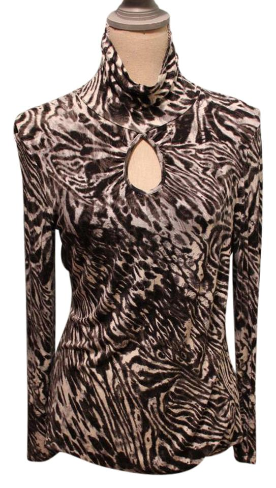 Cable & Gauge Animal Print Night Out Top Size 8 (M) - Tradesy