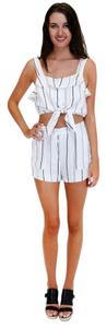 Lush Grand Slam Striped Shorts White