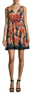 TRYB212 short dress Sundra Floral Anthropologie Silk A-line Lined on Tradesy