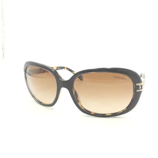 Tiffany & Co. Classic Tortoise Brown With Crystal Details Sunlgasses 4008B 8023/3B Image 2