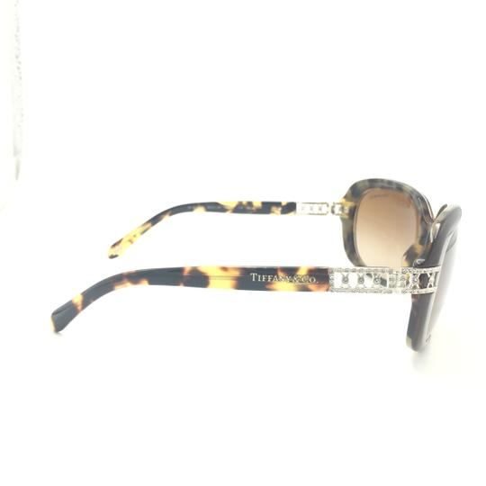 Tiffany & Co. Classic Tortoise Brown With Crystal Details Sunlgasses 4008B 8023/3B Image 3