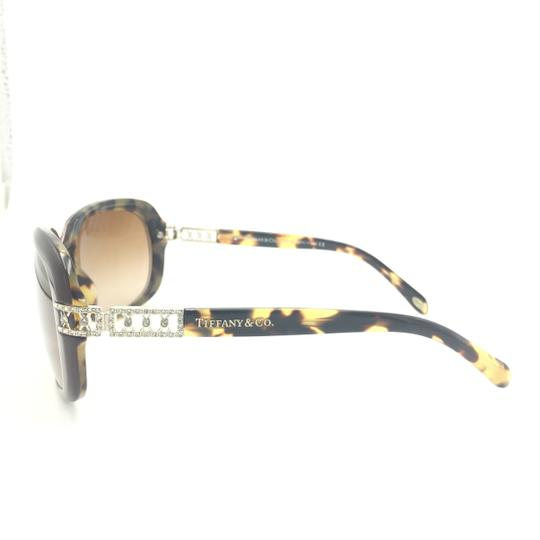 Tiffany & Co. Classic Tortoise Brown With Crystal Details Sunlgasses 4008B 8023/3B Image 4