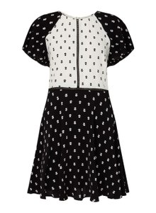 Miss Selfridge short dress Black / White Print on Tradesy