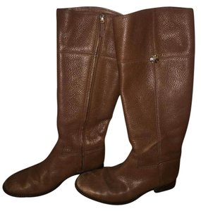 Tory Burch Leather Cognac Boots