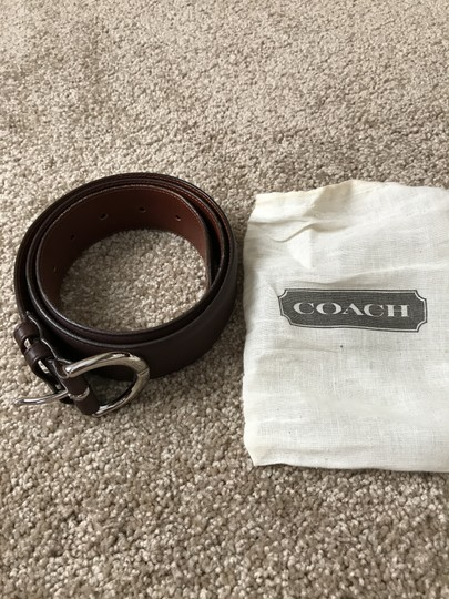 Coach #3 Vintage Wide Brown Leather Large Image 6