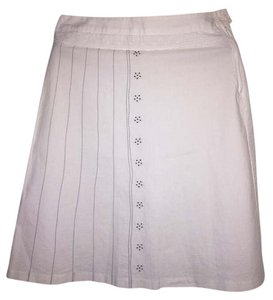 United Colors of Benetton Skirt White with navy blue detail