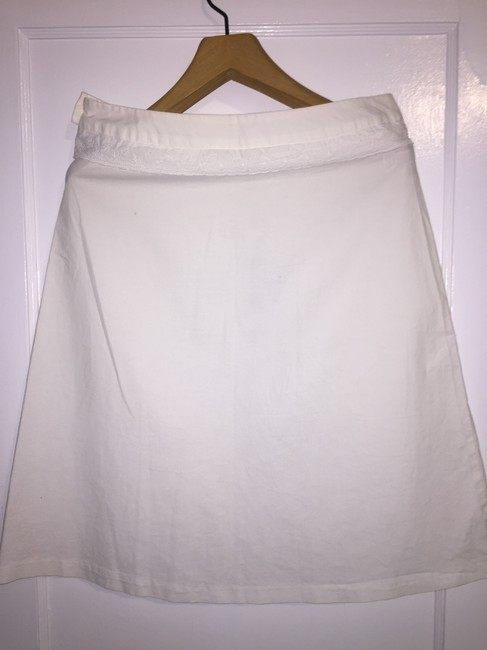 United Colors of Benetton Skirt White with navy blue detail Image 1