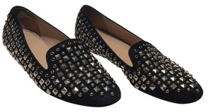 J.Crew Black with gold and silver studs Flats