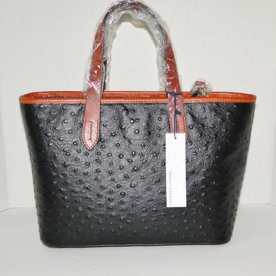 Dooney & Bourke Brandy Crossbody Ostrich Satchel in Black Image 8
