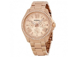 Fossil AM4483 Cecile Women's Rose Gold Steel Bracelet With Rose Analog Dial