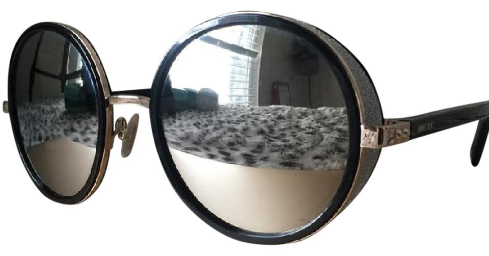 4b6413bd614 Jimmy Choo 0j7q Gold   Shiny Black (M3 Gray Silver Mirror Lens ...