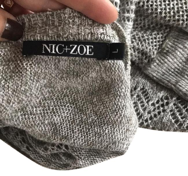 Preload https://img-static.tradesy.com/item/21911333/niczoe-beige-and-tan-mix-sweater-summer-or-fall-ponchocape-size-12-l-0-1-650-650.jpg