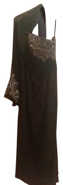 Item - Black 17115a Long Formal Dress Size Petite 10 (M)