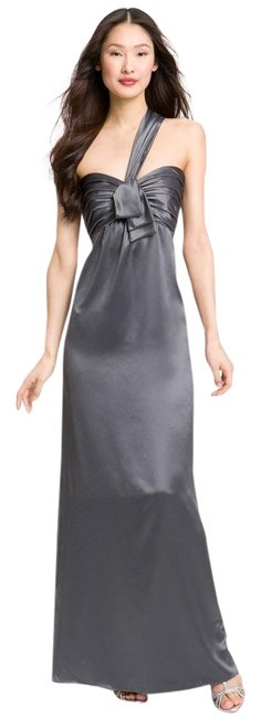 Item - Gray New One Shoulder Gown Long Formal Dress Size 4 (S)