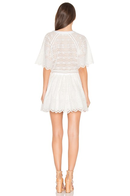 LoveShackFancy short dress White Zimmermann Rachel Zoe Doen Rouje Reformation on Tradesy Image 2