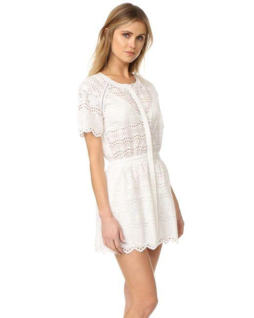 LoveShackFancy short dress White Zimmermann Rachel Zoe Doen Rouje Reformation on Tradesy Image 5