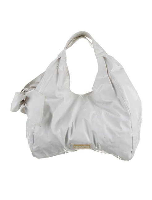 Item - Nuage Bow White Patent Leather Tote