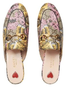 Gucci Beige, pink, black, yellow Mules