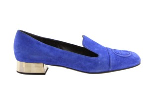 Gucci Suede Leather Insole Gold Hardware Blue Pumps