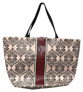 Brighton Shopper Canvas Tote in Pink, Red, Black