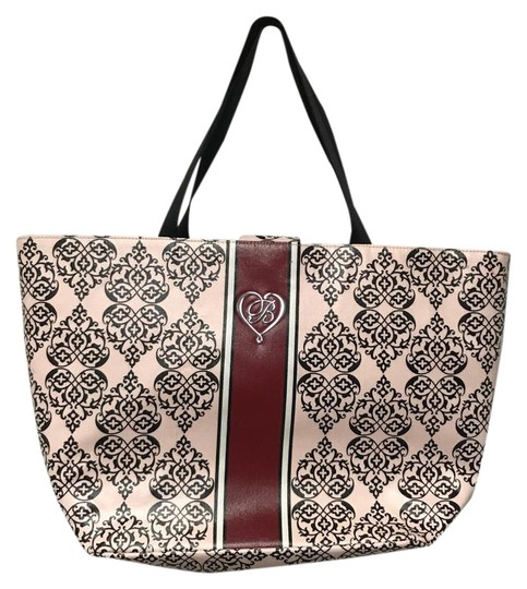 Brighton Shopper Canvas Tote in Pink, Red, Black Image 0