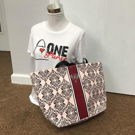 Brighton Shopper Canvas Tote in Pink, Red, Black Image 4