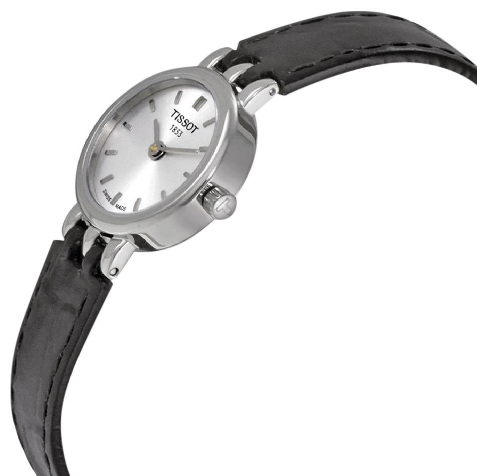 d44204ad8ac1 Tissot T-lady Lovely Silver Dial Black Leather Ladies Watch - Tradesy