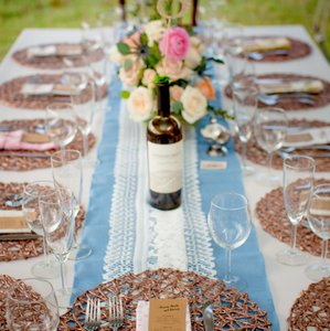Rose Gold 150 Woven Charger Plates Tableware