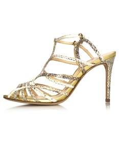 Alexandre Birman Embossed Caged beige Sandals