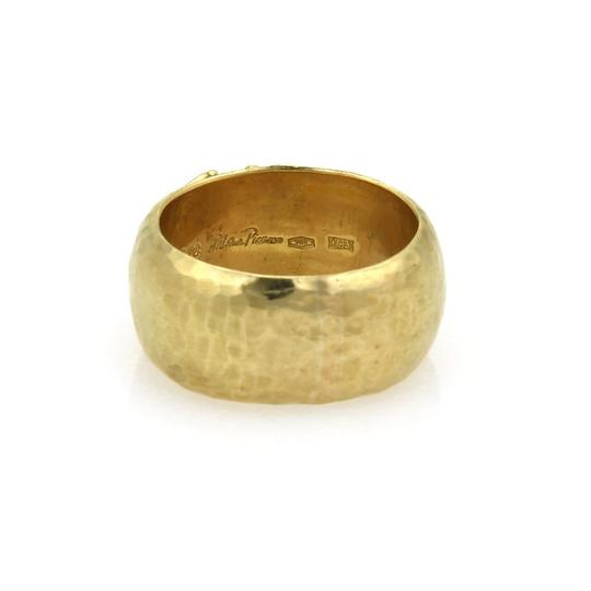 Tiffany & Co. Picasso Kiss X 18k Yellow Gold Wide Hammered Dome Band Ring Image 1
