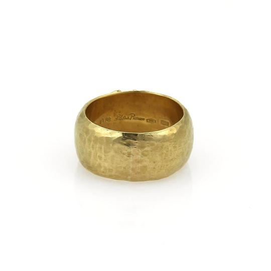 Tiffany & Co. Picasso Kiss X 18k Yellow Gold Wide Hammered Dome Band Ring Image 3