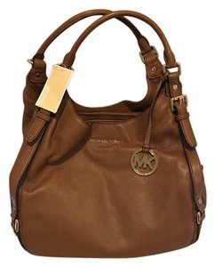 1ac2631c0e08 Michael Kors Bedford Belted Tote Brown Pebbled Leather Shoulder Bag ...