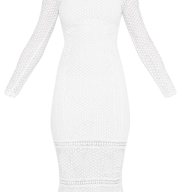 Preload https://img-static.tradesy.com/item/21912032/white-annie-lace-high-neck-frill-midaxi-mid-length-cocktail-dress-size-6-s-0-2-650-650.jpg