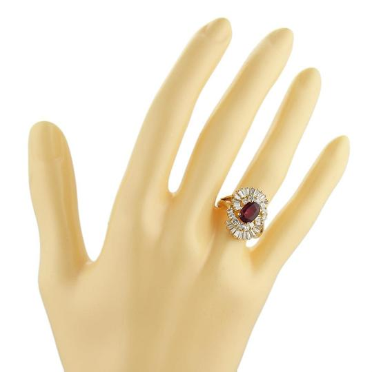 Other Estate 2.65ct Diamond & Ruby 18k Yellow Gold Fancy Cocktail Ring Image 1