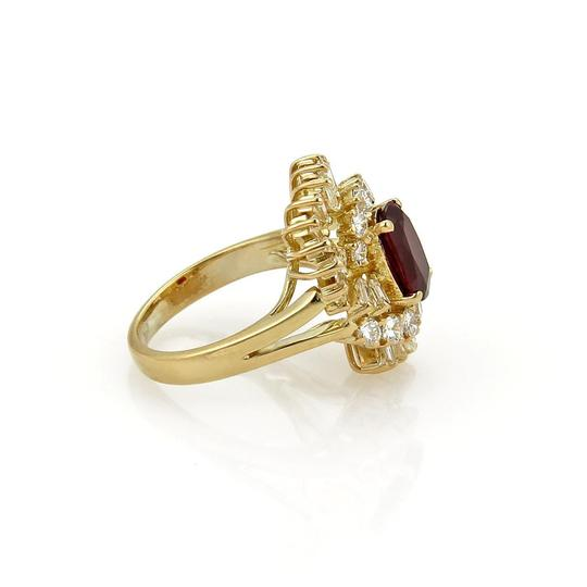 Other Estate 2.65ct Diamond & Ruby 18k Yellow Gold Fancy Cocktail Ring Image 4