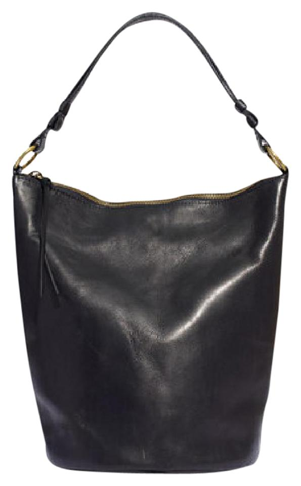 ad92e0df78e5 Madewell The Lisbon O-ring Bucket In Black Leather Shoulder Bag ...
