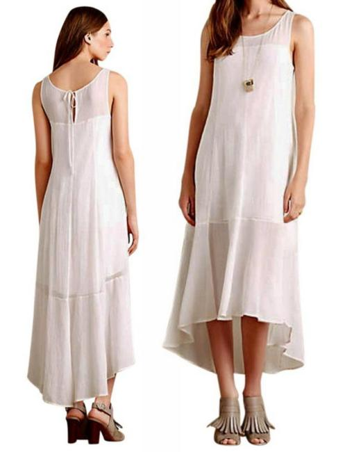 White Maxi Dress by Anthropologie Breezy Maxi High Low Maxi Maxi Summer Maxi Cool Comfy Maxi Image 1